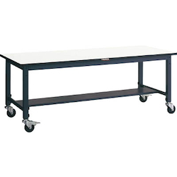 Lightweight Adjustable Height Work Bench with Casters Plastic Panel Tabletop Average Load (kg) 100