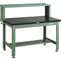 Medium Work Bench with Upper Shelf Linoleum Tabletop Average Load (kg) 2000