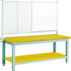 Heavy Work Bench with Front Panel / White Board Linoleum Tabletop Average Load (kg) 3000