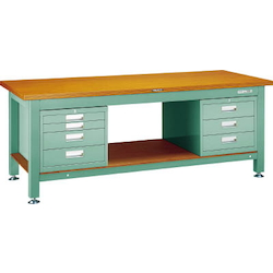 Heavy Work Bench with 3-Shelf / 4-Shelf Cabinet Linoleum Tabletop Average Load (kg) 3000