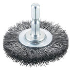 Wheel Brush with Shaft (Hexagonal Shaft Type, Steel Wire)