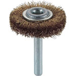 Wheel Brush with Shaft (for Motorized Use/Shaft Diameter 6 mm/Round Shaft Type) (Brass)