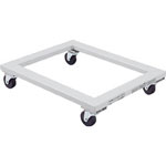 Flat trolley with rubber casters