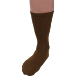 Olive Drab Work Socks, Rounded Tip Pile Sole Type (5 Pairs)
