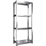 Stainless Steel Medium-Weight Shelf (300 kg Type, Height 2,100 mm, 4-Level Type)