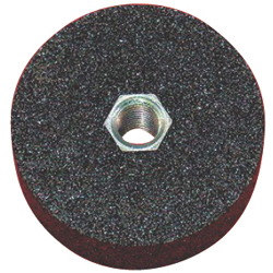 Resinoid Grindstone, Flat Type With Screw, A (Black)