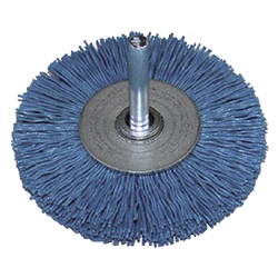 Unilon Grit Wheel Brush with Shaft