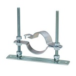 Floor Band Plate with TN Set Floor Nut (Electrogalvanized/Stainless Steel)