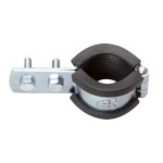 Vertical Pipe Fitting with Vibration Proof CL Standing Band 3t Rubber (Electrogalvanized/Stainless Steel)