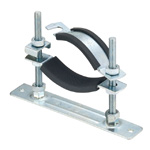 Floor Mount Pipe Support, Anti-Vibration With Set Floor Nut, With Plate Stopper