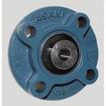 Round Flange Unit with Spigot Joint, Cylindrical Hole with Set Screw, UCFC Type