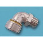 Tube Expansion Fitting for Stainless Steel Pipes, BK Joint, Male Adapter Elbow