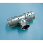 Single-Touch Fitting for Stainless Steel Pipes, EG Joint Water Faucet Tee EGWT (for JIS G 3448)