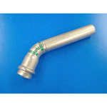 Double Press One End Socket 45° Elbow with Safety Function, for Stainless Steel Pipes