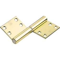 195B, Noiseless Flag Hinge (Engraved Type) 195BR-1