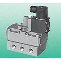 Single Unit Valve Pilot-Operated 5-Port Connection Valve, Selex Valve, 4F4/5/6/7 Series