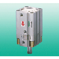 Super compact cylinder USSD series with intermediate stop function to prevent falling.