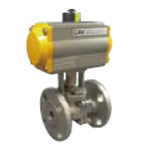 Stainless Steel Valve, CSJ, 10K Flange Ball Valve with Actuator