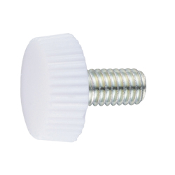 White UF Resin Decorative Screw - No.3