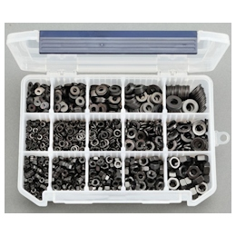 Hexagonal Nut and Washers Set (Stainless Steel /Black) EA949LT-6