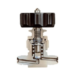 Stainless Steel 16.2 MPa Metal Diaphragm Valve