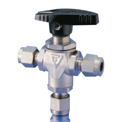 Stainless Steel 4.9 MPa POWERFUL SERIES Panel-Mounted Ball Valve 3-Way Valve