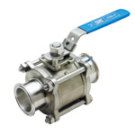Z Sanitary 3-Piece Ball Valve (ZCSS-F)