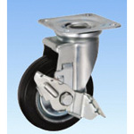 Casters for Medium Loads, Swivel (with Rotation Stopper), HJS Type, Sizes: 130 mm to 150 mm