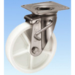 Stainless Steel Caster Swivel (with Double Stopper) JAB Type Size 200 mm