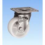 Stainless Steel Caster Swivel (with Double Stopper) JAB Type Size 75 mm