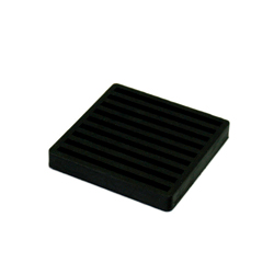 Both-side vibration-proof rubber with lines