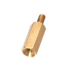 Brass Spacer (Hexagonal, For Flat Head Screw Fastening) KSB-BE/KSB-BNE