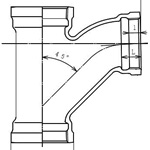 90° Long Radius Drainage Fitting