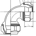 Mechanical Elbow Fitting for Stainless Steel Pipes