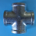 Pipe Fittings, Cross (With Clamp)
