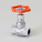 Malleable Valve, General-Purpose 10K Type, Globe Valve, Screw-In, Reinforced PTFE Disk Installation