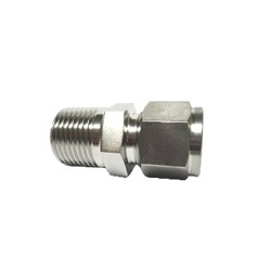 Double Ferrule Type Tube Fitting, Male Connector DCT