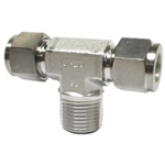 Double Ferrule Type Tube Fitting Male Branch Tee DTN