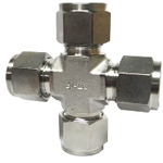 Double Ferrule Type Tube Fitting, Union Cross DXA