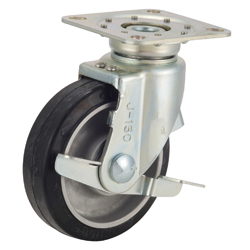 Tow Truck Caster, TRS-AWJB Type, with Aluminum Cored Bar Type Stopper, Swiveling Fittings Silent