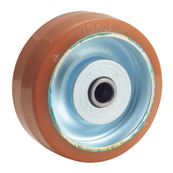 Medium-Load Caster, P-W Type, Loglan (Urethane) Wheel, Wheels Only