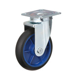 Low Starting Resistance Caster, LR-WJ Type, Rubber Wheel Type, Swiveling Fitting