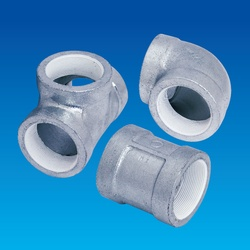 Screw Sealing Agent-Coated Screw Type Malleable Cast Iron Pipe Fitting, PS20K Continuous Feeding Piping Fitting, Reducing Tee