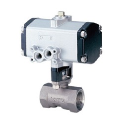 Stainless Steel Ball Valve With 10K Pneumatic Actuator