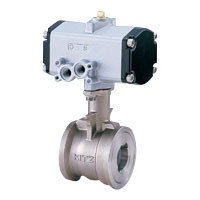 Stainless steel 5K ball valve with pneumatic actuator