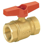 Brass-Made General Purpose 400 Model Ball Valve Screwing (T-Shaped Handle)