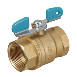 Brass General-Purpose Type 600 Screw-in Ball Valve (Butterfly Shaped Handle)