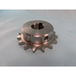 Stainless steel sprocket type 25B semi F Series, shaft bore machined (new JIS key)