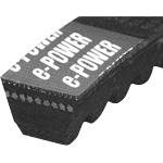e-POWER Belt, Raw Edge Cogged AX Type