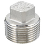 "Stainless Steel Screw-in Type Pipe Fitting, Plug ""P"""